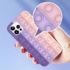 POP IT Fidget Case Casas de silicona de descompresión Casos de teléfono de silicona para iPhone 12 11 Pro XS MAX XR 7 8 PLUS HUAWEI MATE30 MATE40 P40 CPA2651