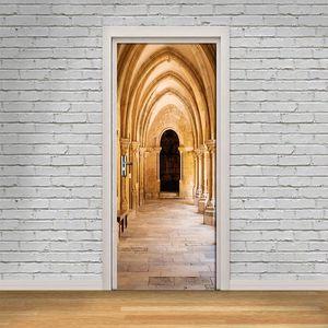 Wallpapers Archway 3D Creative Door Sticker Wall Painting Living Room Bedroom Background Mural PVC Waterproof Wallpaper