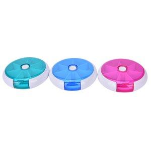 7 Gün Plastik Haftalık Tablet Tutucu Depolama Organizatör Konteyner Kılıf Kutusu Ayakçıları 3 Renkler