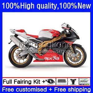Body Kit For Aprilia RSV1000R Red blk white Mille RV60 RSV 1000 R 1000R 2003 2004 2005 2006 Cowling 9No.69 RSV1000RR RSV1000 RSV-1000 R RR 03 04 05 06 Motorcycle Fairing