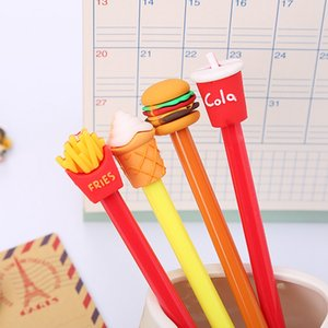 Novelty Cute Cartoon Cola burger ice cream gel pen 0.5mm black Pens School Office student Exam Writing Stationery Supply 0311