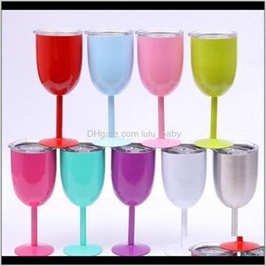 10Oz Stainless Steel Glass Antibroken Glasses Stemware Creative Cup Durable Drinkware Car Cups S8S5W Dishes Utensils 1Nrpr