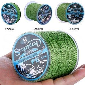 Sougayilang Trança linha de pesca 150m 350m 550m 4 fios salpicados multifilament super forte PE trançado