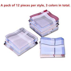 Handkerchiefs cotton sweat-absorbent hand towel fashion multi-color optional men's handkerchief