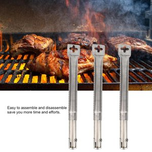 Tools & Accessories 2021 Three-Pack BBQ Grill Replacement Kit Stainless Steel Parts Tube Burners Universal Straight Pipe