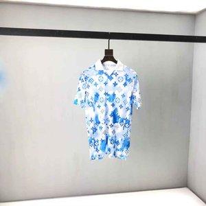 2021SS Frühling und Sommer Neue hochwertige Baumwolldruck Kurzarm Rundhals Panel T-Shirt Größe: M-L-XL-XXL-XXXL Farbe: Schwarz Weiß BV6D