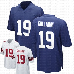 19 Kenny Golladay Football Jerseys 26 Saquon Barkley 8 Daniel Jones 2021 Azul Branco Limitado NovoIorqueGigantesmasculino