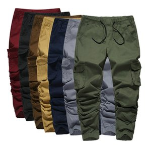 Elástico Hip Hop Mens Jogger Harem Pantalones Hombre Sweetpants Volgins Hombres Pantalones Slim Casual Streetwear Pantalones MCRHU