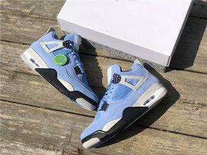 2021 Rilascio Scarpe da basket da uomo 4 4s SE University Blue Jumpman Fashion Trainers Luxurys Designer Sneakers Dimensioni 40--47.5 Ship with box