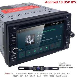 Android 10 Dört Çekirdek Evrensel Araba DVD Oynatıcı GPS Navigasyon TPMS ile Dab Ayna Bağlantı Wifi DTV DVR OBD Radyo EQ Arka Kamera 4G
