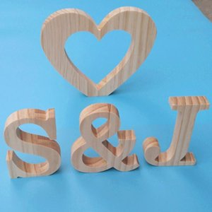 Novelty Items The Price Is For One Letter Not Word,Personalized Burlywood Wooden Name Plaques Word Letters Wall Door Art Wedding Po