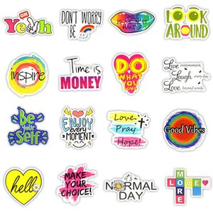 50 PCS Motivational Phrases Stickers Inspirational Quotes Sticker for Kids Notebook Stationery Study Room Scrapbooking Fridge Decals 1985 V2