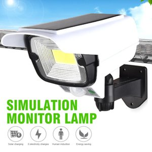 1Solar Light Motion Sensor Security Dummy Camera Remote Wireless Outdoor Flood Waterproof LED Wall Lamp Lamps