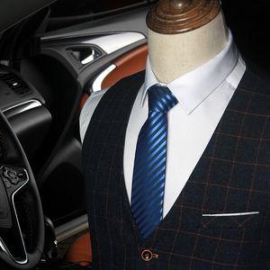 EAYS Bonu Polyester Striped Mariage Group Colde Cravates Bonu Men's Business Men's Professional PolyBusiness Cravate Professionnel Polyester rayé