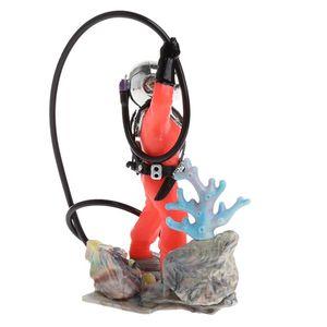 Decorations Fish Tank Use Sea Treasure Diver Action Aquarium Ornament Realistic Design Drop