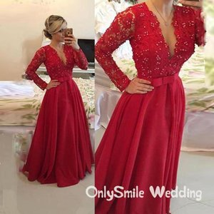 Junior PROM платье V-образным вырезом с длинными рукавами A-Line Chiffon Мусульманские арабские платья для вечеринок Vestidos de Fiesta Noche Largos Elegantes Boda платья