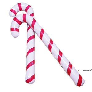 88X 25 X 7cm Inflatable Candy Cane Classic Lightweight Hanging Decoration Christmas Party PVC Balloons Adornment RRB11107