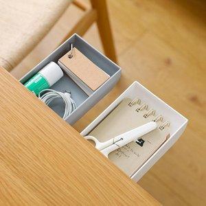 3 unids cajón caja de almacenamiento Paste Tipo de cocina Gadgets Organizador bajo la mesa Almacenamiento Rack Desk Titular de la pluma
