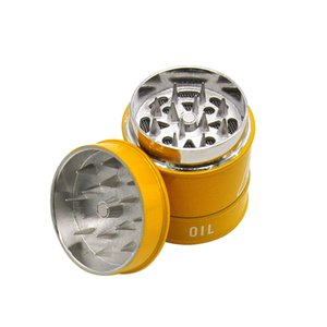 Tobacco Smoking Herb Grinders three Layers Zinc Grinder 100% Metal dia 40mm have 3colors With Clear Top Window Lighting Other Accessories