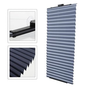 Blinds Light Filtering Pleated Window Curtains Punch Free Curtain