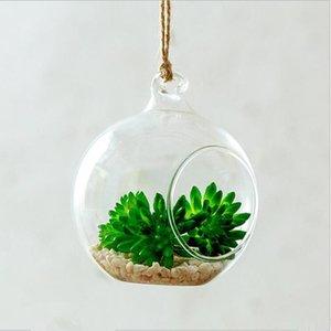Vases Diameter=12cm Middle Size Hanging Glass Terrarium Vase Home Decoration Microlandscape Container Condole Bottle Wedding Live Prop