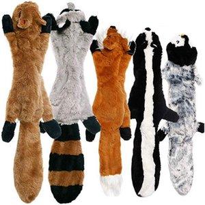 Neue Nette Plüschtiere Squeake Pet Wolf Kaninchen Animal Plüschtier Hund Kauen Quietschende Pfeiferei Eichhörnchen Hund Spielzeug
