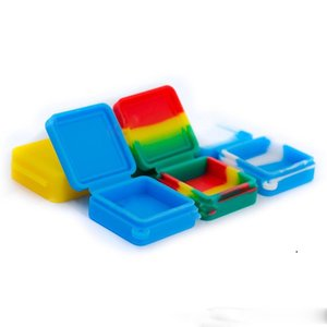 Containers Smoking Accessories 9ml Block Shape Silicone Container Food Grade Jars Dab Tool Storage Jar Oil Holder For Vaporizer EWD5770