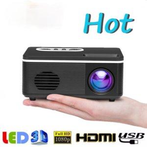 S361 Portable Mini Projector 600 Lumen LED Built-In Speaker Home Media Player Small Pocket Beamer Movie Video Macaron Color