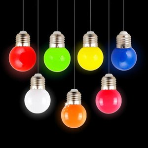 Pc Kit 220V E27 3W Energy Saving 6 LED Small Bulb Outdoor Decoration Colorful Light Lamp Party