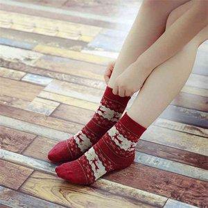 Autumn and winter rabbit wool Christmas middle tube leisure cartoon women's socks
