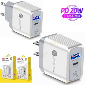 factory price type c charger 20W EU US Ac Quick PD QC3.0 Wall chargers adapter For Iphone 11 12 Pro Max Samsung Tablet PC