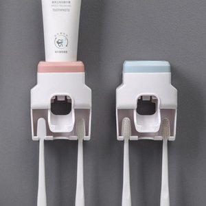 Toothbrush Holders Creative Wall Mount Automatic Toothpaste Dispenser Bathroom Accessories Waterproof Lazy Squeezer Holder