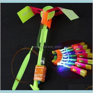 Led Flier Flyer Led Flying Amazing Arrow Helicopter Flying Umbrella Kids Toys Amazing S Light-Up Parachute Gifts Sea Jqjtn Sm5F6