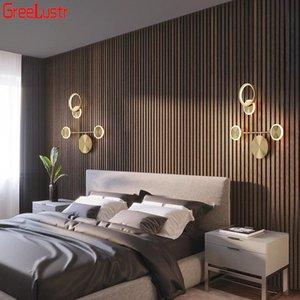 Wall Lamps Nordic Modern Lamp Led Minimalist Bedside Luxury Copper Art Deco Sconce Lights Loft Aisle Home Indoor Light