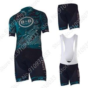 Racing Sets 2021 B&B ELS Team Cyling Jersey Set Men's Summer Short Sleeve Clothing Suit MTB Bib Shorts Maillot Cyclisme Ropa Ciclismo