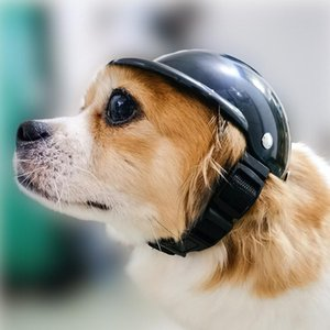 Pet Helmet Motorcycle Dog Cat Protective Gear Sun Rain Protection Toy Hat Supplies Costumes Accessories Apparel