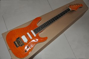 Factory custom Orange body Electric guitar,Rosewood fingerboard,Gold hardware,Provide customized services