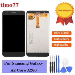 Digitador de tela de exibição LCD Original para Samsung Galaxy A2 Core A260 Montagem Móvel Super Qualidade Peças de Substituição Preto