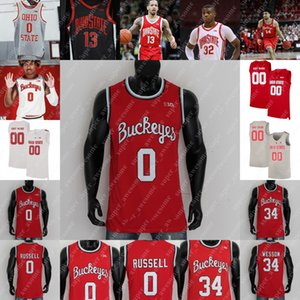 Ohio State Buckeyes Basketball Jersey E.J. Liddell Justice Sueing CJ Walker Kyle Young Justin Ahrens Zed Key Seth Towns Musa Jallow 0 Russell