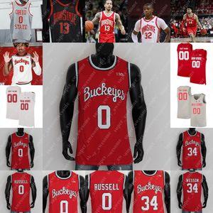 Ohio State Buckeyes Basketball Jersey E.J. Liddell justicia demandar cj walker kyle joven justin ahrens zed key seth ciudades musa jallow 0 russell