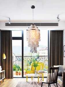 Pendant Lamps Modern Nordic Lustres Fixture E27 Lights Shell Loft 3 Kinds Style Natural Seashell For Dining Room Bedroom