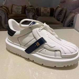 white designer ID RUBBER Casual shoes TOp quality real leather Women Party design sneaker Letters lace-up walking shoe