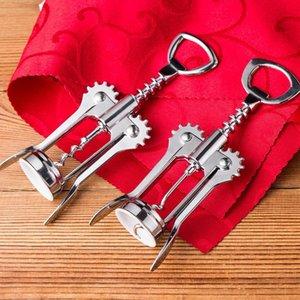 Abridores de garrafa de abertura de vinho metal aço inoxidável metal forte asa de asa de corkscrew cozinha de cozinha de cozinha acessórios