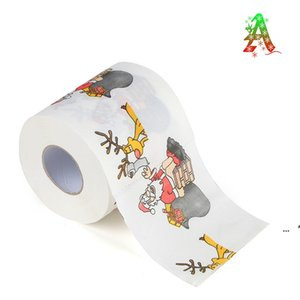 Merry Christmas Toilet Paper Creative Printing Pattern Series Roll Of Papers Fashion Funny Novelty Gift Eco Friendly Portable LLA7344