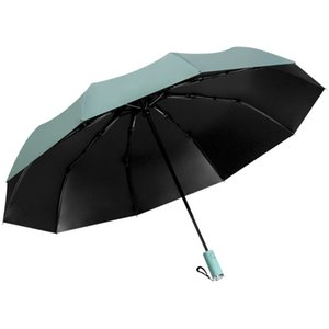 Umbrellas Full Automatic Umbrella Black Rubber Sunny And Rainy Large Double Reinforced Thickened Wind Resistant Folding For Men A