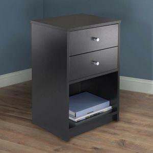 2 Schubladen Nachttisch Aufbewahrung Holz Endtisch Nachts Organizer