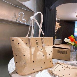 أزياء المرأة حقيبة يد مصمم إلكتروني طباعة نمط حقيبة الكتف جودة عالية سستة نسخة حقائب التسوق قطعتين مجموعة WF2103242