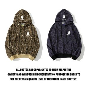 Hoodie Brand Shark Ape Head Camouflage Leopard Print Exclusive свитер Молодежные моды влюбленные одежды