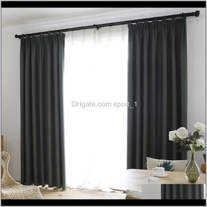 Faux Linen 70Percent-85Percent Shading Custom Made Insulating Modern Style Solid Color Blackout Curtain For Living Room Window Decorat 5Gyxm