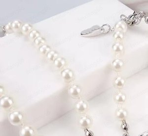Beaded Necklace Lady Pearl Rhinestone Satellite Gift Birthday Party Pendant Travel Meeting Wild Necklace